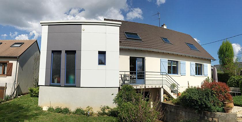 Extensions atelier guillaume verret for Extension maison suite parentale